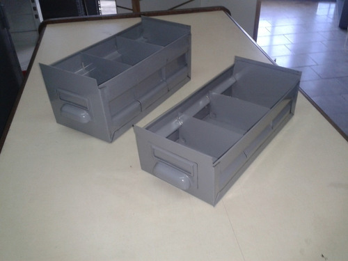 cajones gaveta metalicos 7cm x 13 cm x 30 cm