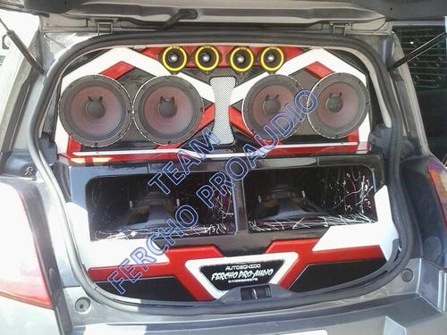 cajones tablas empotrados de sonido caraudio soundcar