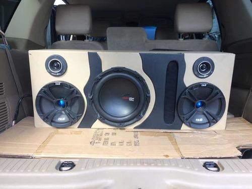 cajones ventilados, turbos, empotrados y tablas de sonido