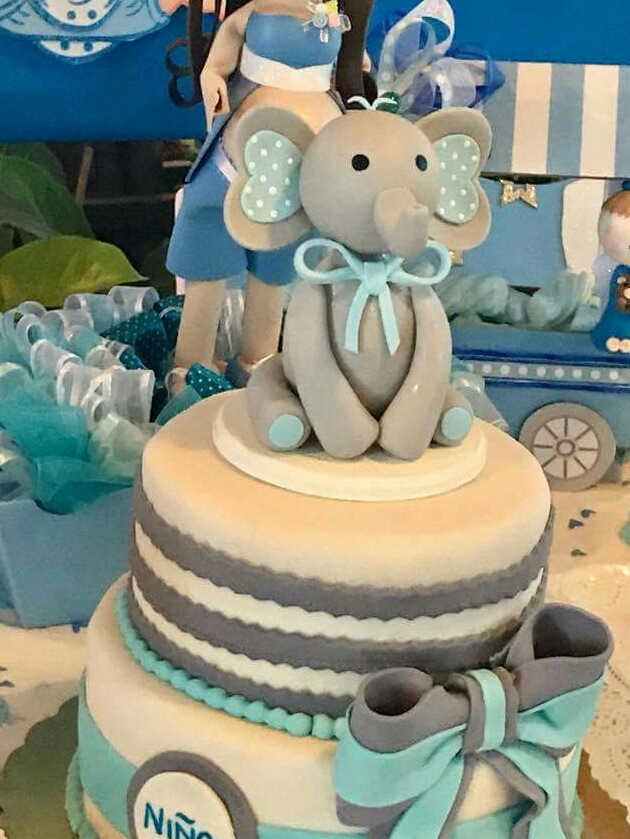 Cake Topper Elefantito Para Pastel Baby Shower 23000 En Mercado