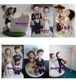 132874e7fc7 Cake Toppers Novios Personalizados Boda Figuras Para Pastel