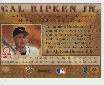cal ripken jr, pacific omega 1998
