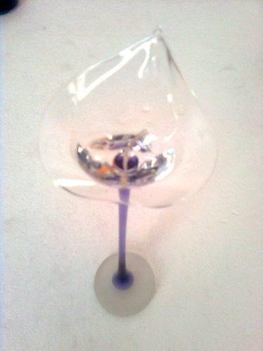 cala de vidrio(cala 25 cm) p/souvenirs o ceremonia de velas.