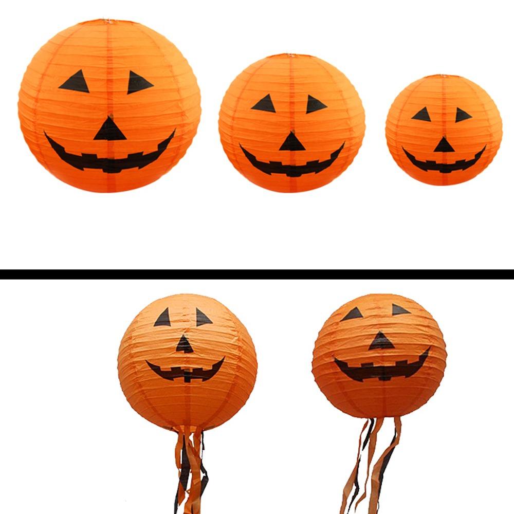 Calabaza De Halloween Linternas De Papel Centro Comercial 24751 - Calabaza-de-papel