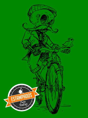calaca vintage bicicleta poleron serigrafia variedad colores