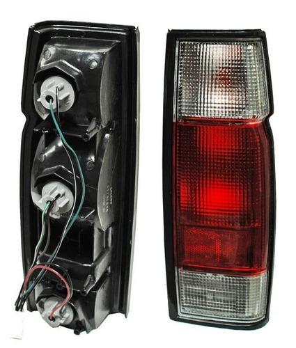 calavera nissan pickup d22 2005-2006-2007 rojo/bco izquierda