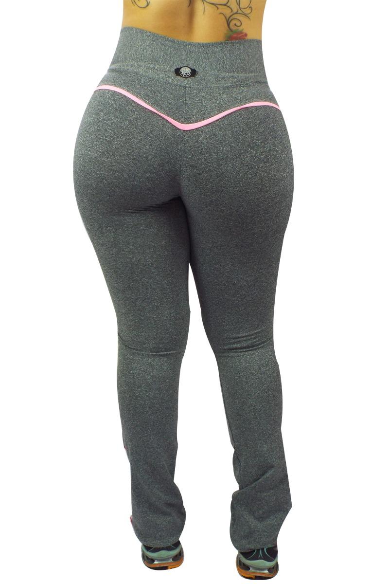 060fb78d3 calça bailarina fitness alta compressão la seduzione mescla. Carregando  zoom.