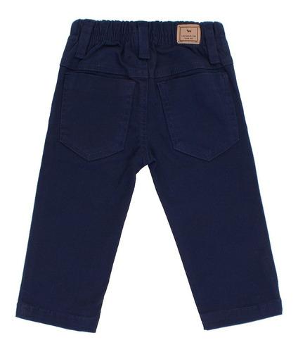 calça bebê masculino em sarja azul marinho