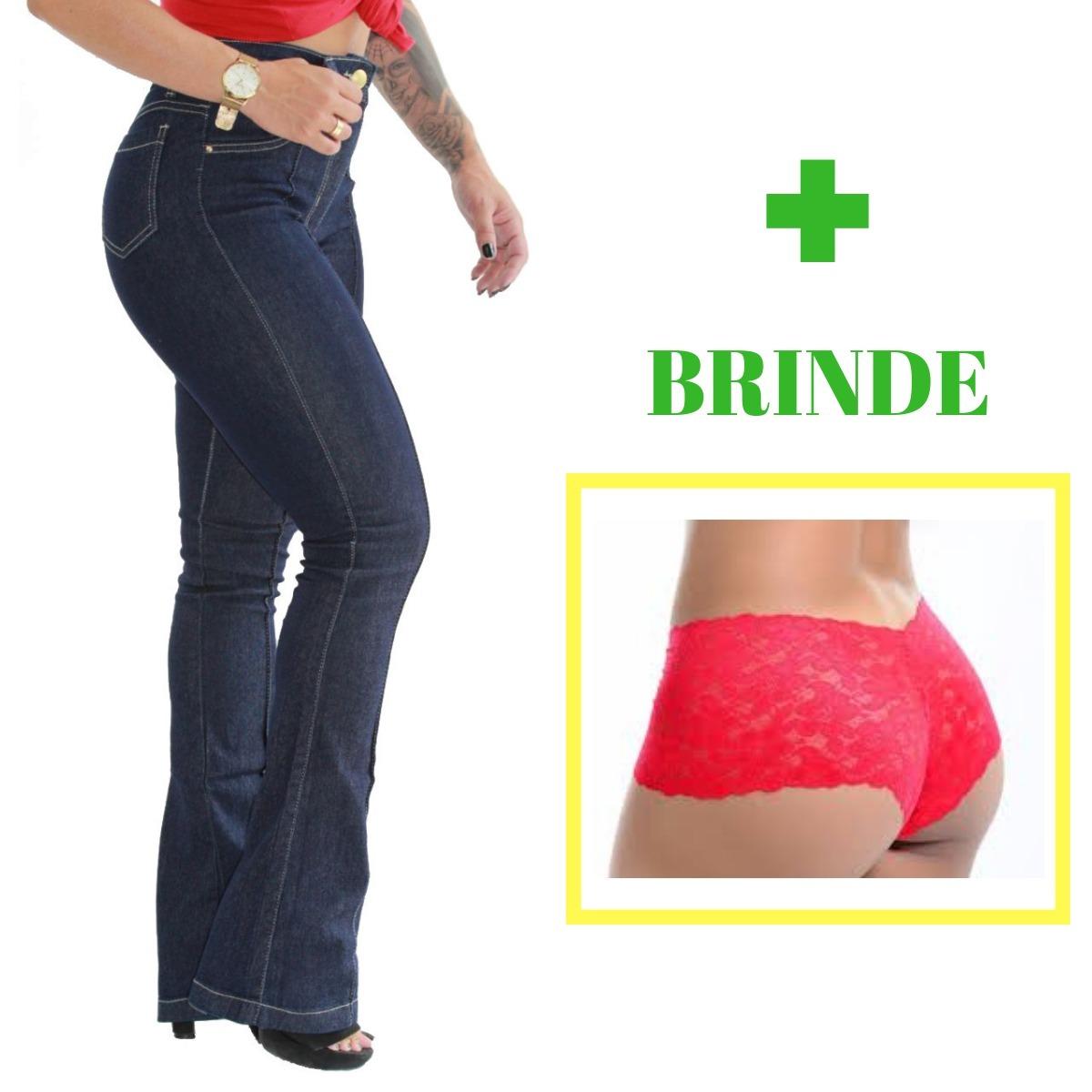 e30d9de8c calca boca de sino jeans feminina cintura alta linda. Carregando zoom.