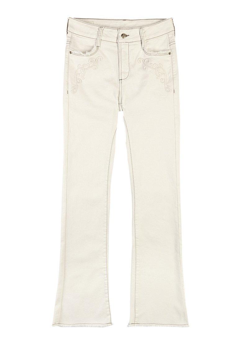 6d09b3c4d calça bootcut feminina algodão bordado barra desfiada hering. Carregando  zoom.