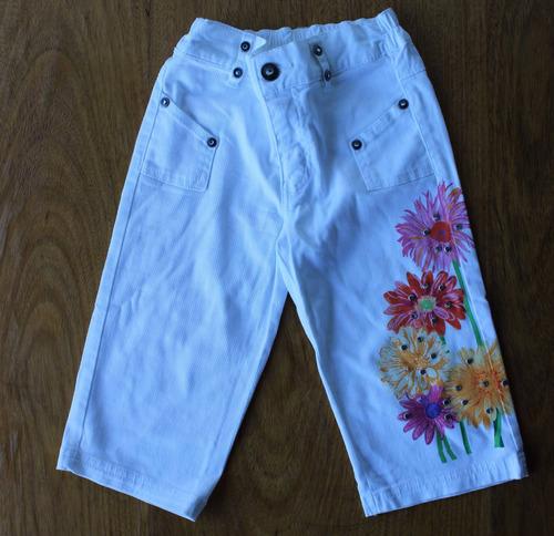 calca branca importada pintada a mao