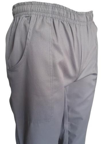 calça brim cinza uniforme profissional pronta entrega