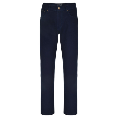 calça brim masculina vilejack tradicional reta azul marinho