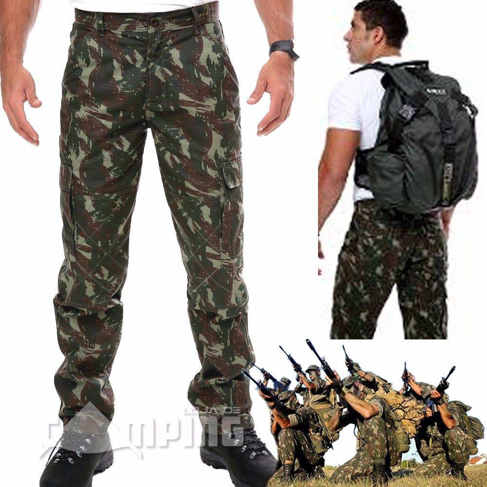 Calça Camuflada Cargo Masculina Tatica Militar Ripstop Exerc - R ... 8f6181195e9