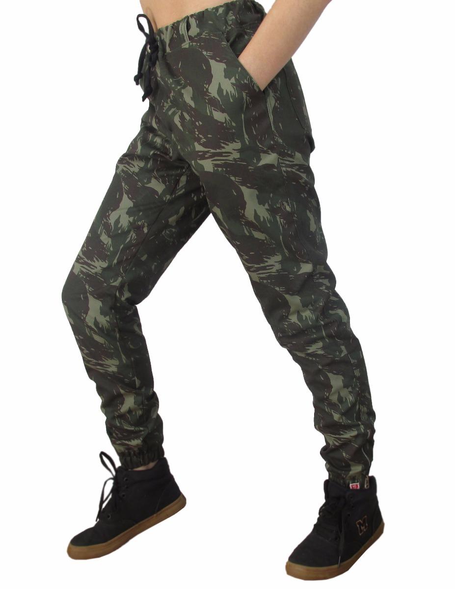 calça camuflada feminina vcstilo - calça jogger feminina. Carregando zoom. 8a9f74fff97b7