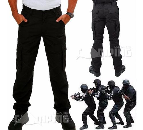 calça cargo masculina poly ripstop tatica militar reforçada