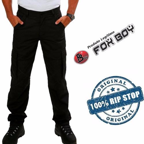 calça cargo tática masculina poly rip stop foxboy promoção