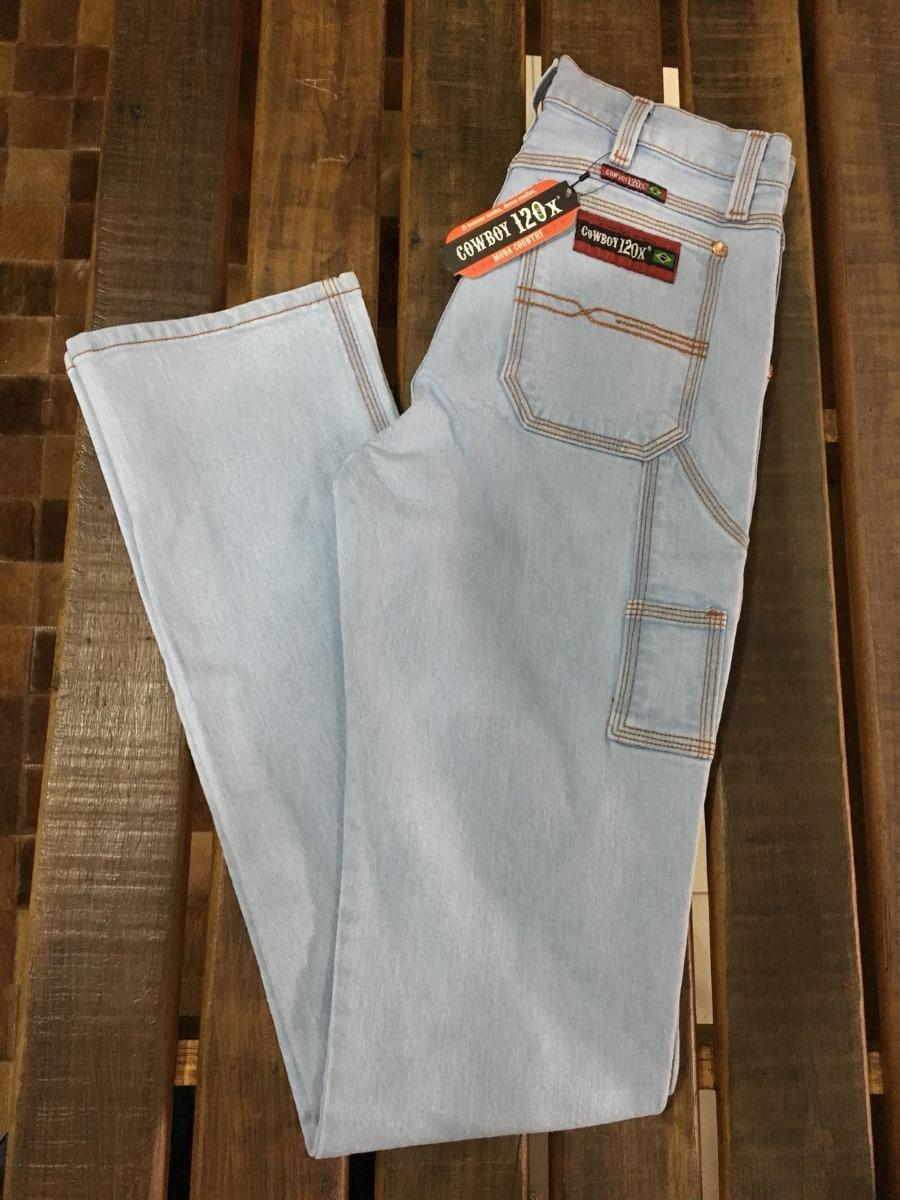 calça carpinteira masculina cowboy 120x delave. Carregando zoom. 0decb2a922f