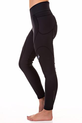 calça ciclismo flets de compressão feminina black