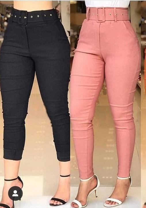38bf91cb2ef692 Calca Cintura Alta Bengaline Com Cinto Barato Moda Feminina