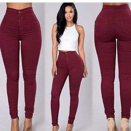 65a268f3c Calça Cintura Alta Hot Pants Bordô Vinho - R$ 69,99 em Mercado Livre