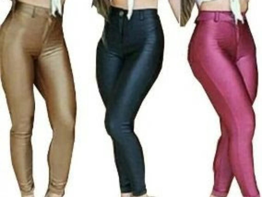 Calca Cirre Disco Pants Feminino Cos Cintura Alto Modelador - R  40 ... 0134afb66d6
