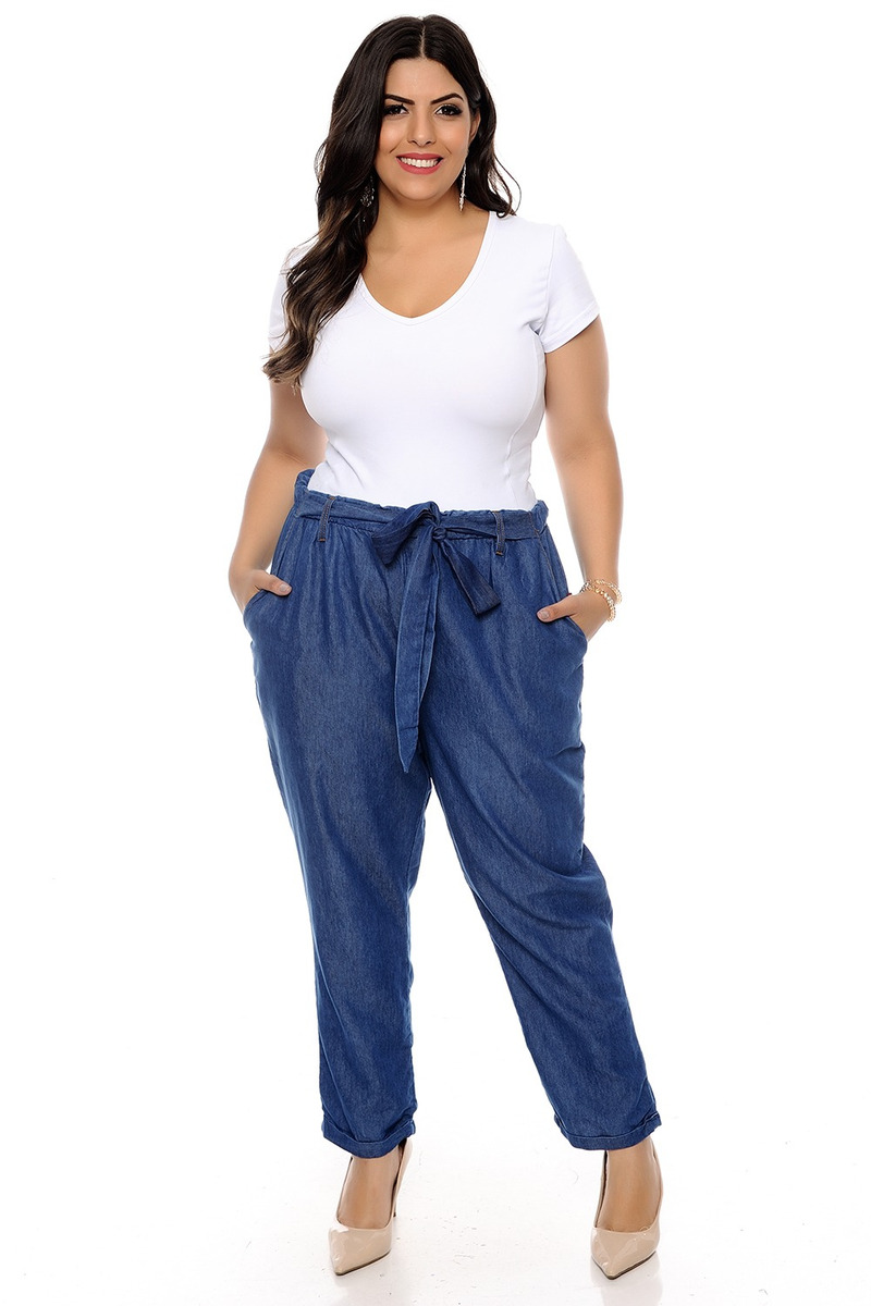 bcdbb2b69233ae Calça Clochard Cropped Plus Size