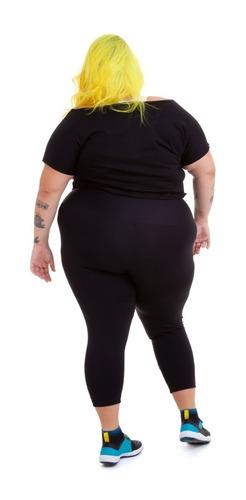 calça corsário plus size wonder size emana® plus preto