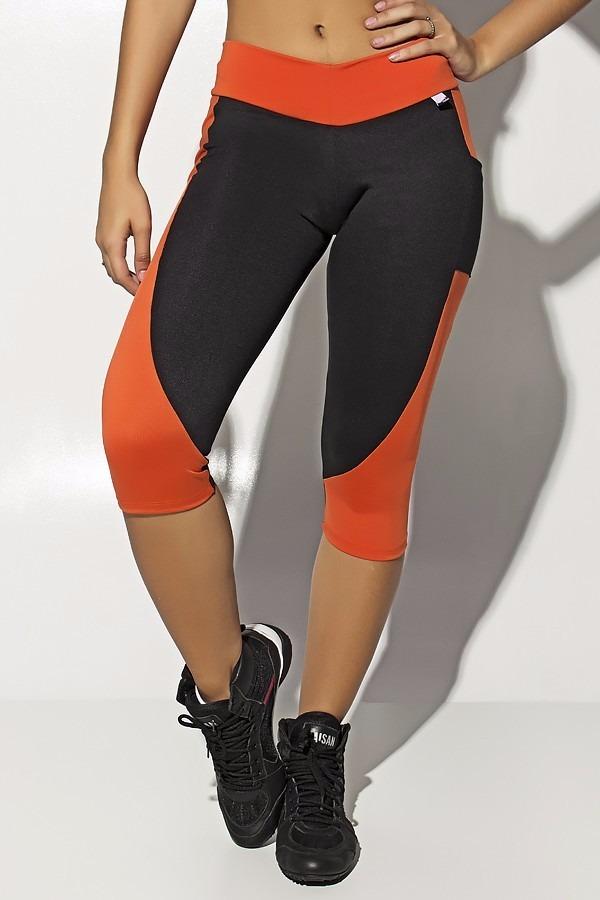 98da42e11 calça corsário suplex com bolso (laranja) p m g -f1360. Carregando zoom.