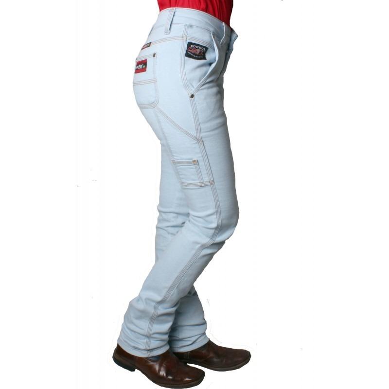 Calça Country Carpinteira Feminina Clara Cowboy 120x - R  169 f2c438890b9