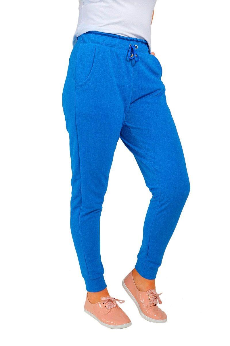 calça crepe com cós de elástico e bolso azul baiki badhai. Carregando zoom. bf4b4f70cb2
