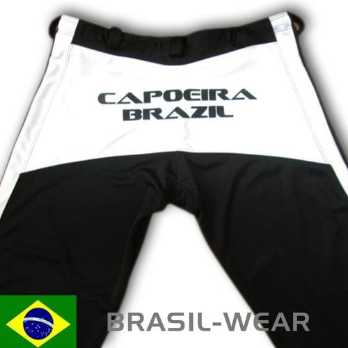 calça de capoeira abada preto branco helanca poliamid grossa