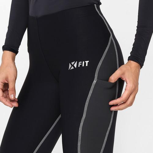 calça de compressão woom x-fit - preto feminino g