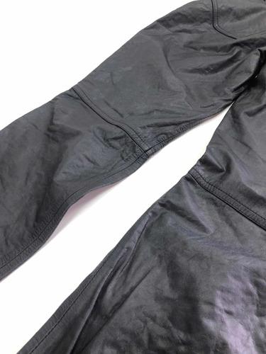 calça de couro augustus motoqueiro motociclista nova detalhe