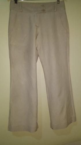 calça de linho marrom claro tam.36 le lis blanc