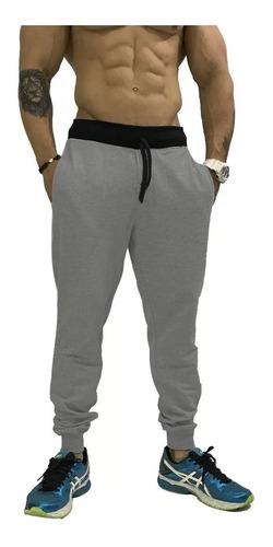 calça de moletom masculina academia slim fit jogger saruel