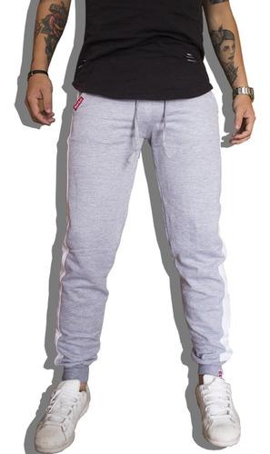 calça de moletom masculina calça com listra lateral v90