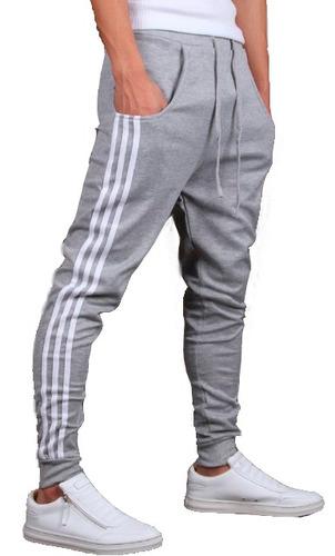 calça de moleton masculina feminino saruel skinny sport luxo