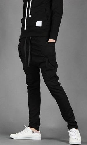 calça de moleton masculina skinny slim swag - frete grátis