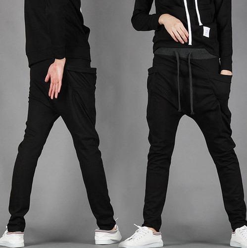 calça de moleton masculina skinny slim swag sport luxo