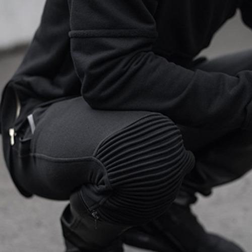 calça destroyed biker masculina jeans sarja rasgada vcstilo