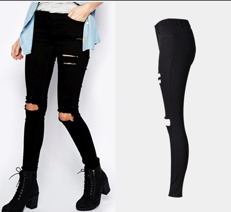 9f7d968fb2 Calça-destroyed-feminina-rasgada-jeans-preta-moda-2018 - R  120
