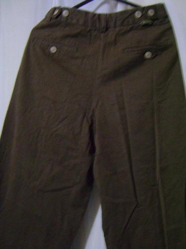 calça em brim masculina marrom  38