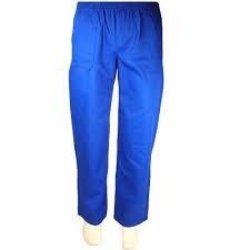 calça em brim uniforme profissional azul