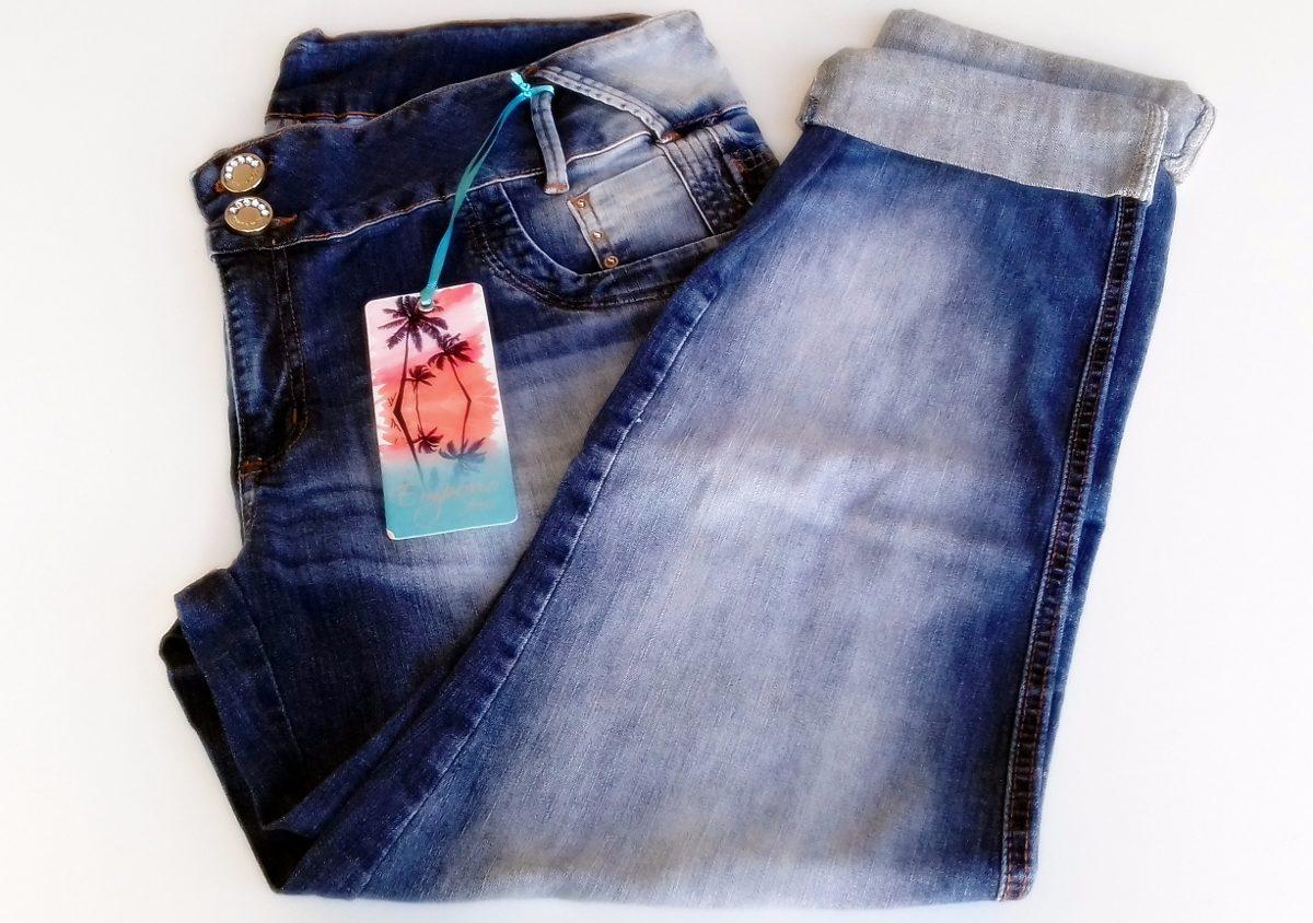 b802482c073b calça emporio feminina jeans manchada tamanho especial - 52. Carregando  zoom.