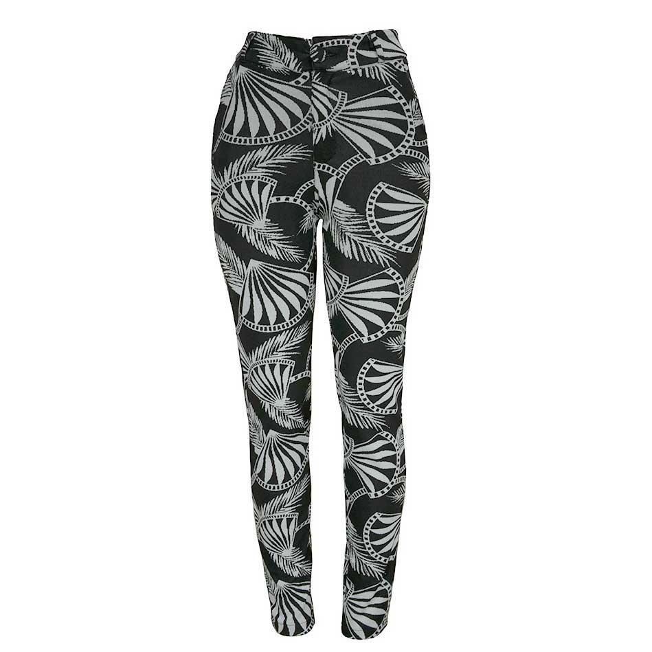 ca3645a13f580 calça estampada jacquard legging preta feminina 233140. Carregando zoom.