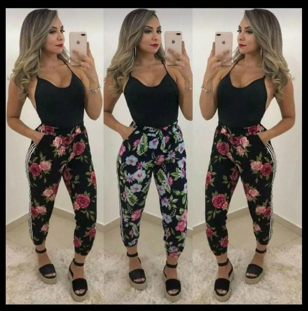 calça estampada pantacourt feminina moda instagram. Carregando zoom. 32caaf7de6c