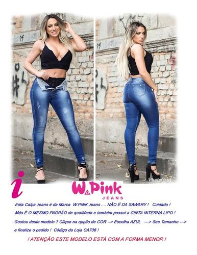 calça feminin preta super lipo cintura média alta 990 sawary
