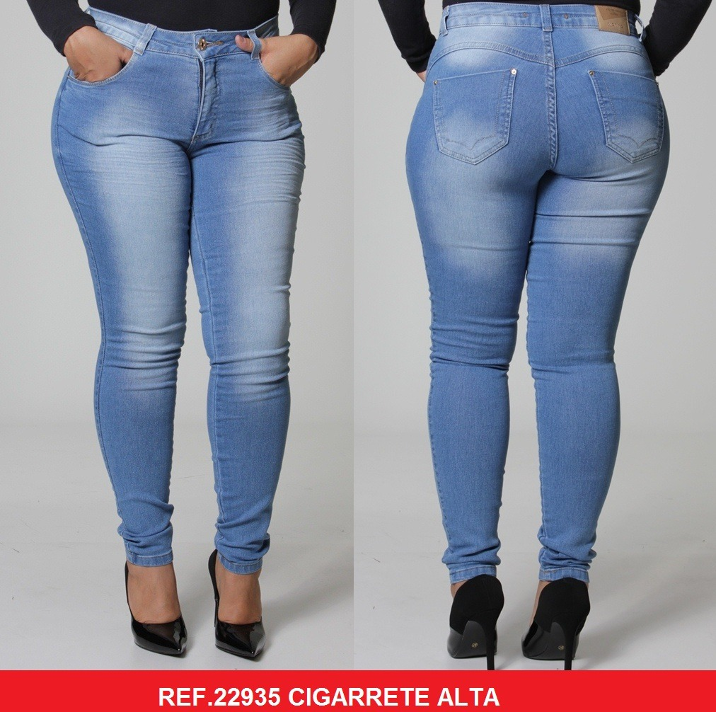 ac2a36b1584814 Calça Feminina Biotipo Jeans Plus Size 22935