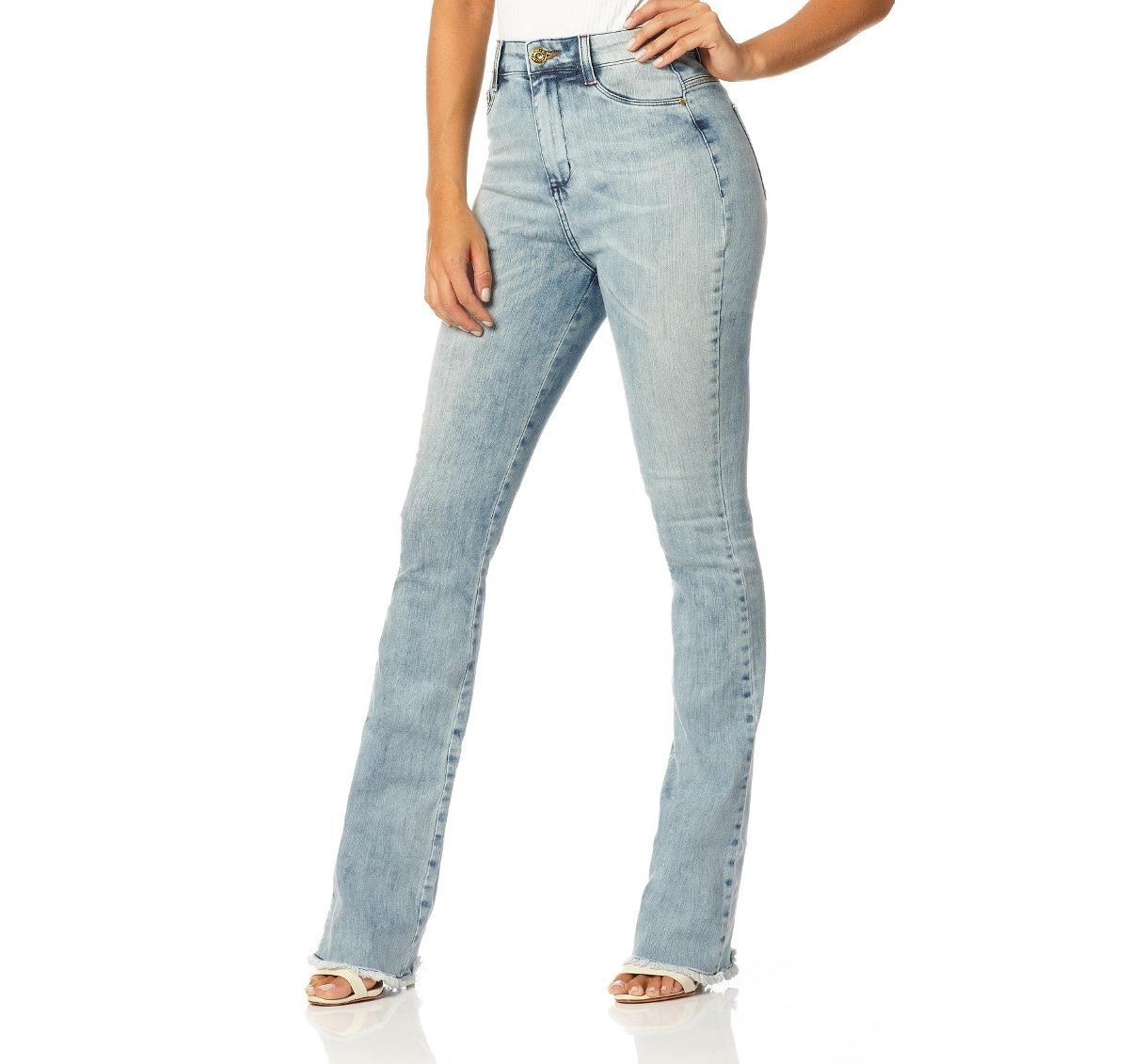 90ffb3f68 calça feminina boot cut hot pants clara denim zero - dz2225. Carregando  zoom.